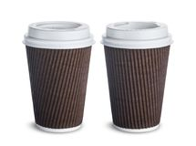 Paper coffee cup  on white background Royalty Free Stock Photography