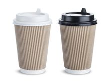 Paper coffee cup  on white background Royalty Free Stock Image