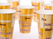 Paper Coffee Cups Stock Photo