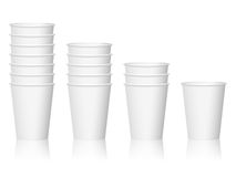Paper coffee cups Royalty Free Stock Images