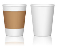 Paper coffee cups Stock Image