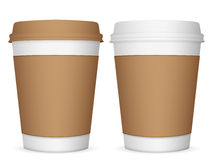 Paper coffee cups Royalty Free Stock Image