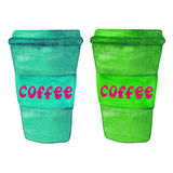 Paper coffee cups. Royalty Free Stock Photo