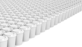 Paper coffee cups Royalty Free Stock Photos