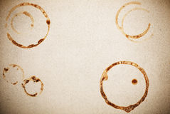 Paper with coffee marks. Textured paper with coffee marks royalty free stock photography