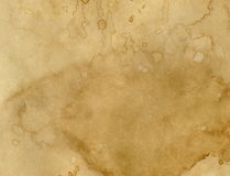 Paper with coffee stains. Worn paper with coffee stains. Background with room for text or images royalty free stock photos