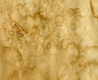 Paper with coffee stains. Worn paper with coffee stains. Background with room for text or images stock photography