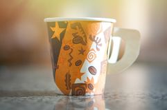 A paper coffee tea cup. Empty coffee paper cup Stock Images