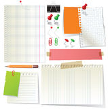 Paper collection Stock Image