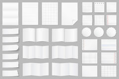 Paper. Collection of different paper - A4 paper, folded paper, brochure templates, stickers, notes Stock Image