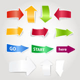 Paper color arrows Stock Images