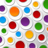 Paper color bubbles Royalty Free Stock Images