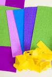 Paper Color. Green Blue Pink Yellow Violet Paper Stock Image