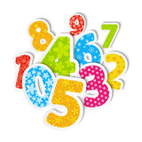 Paper color numbers Royalty Free Stock Photography