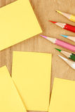 Paper and color pencil Royalty Free Stock Photos