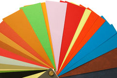 Paper color samples Royalty Free Stock Images
