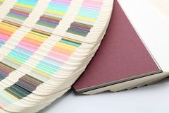 Paper and color samples Royalty Free Stock Photography