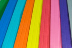 Paper color spectrum Royalty Free Stock Images