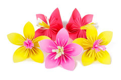 Paper colored flowers Royalty Free Stock Photos