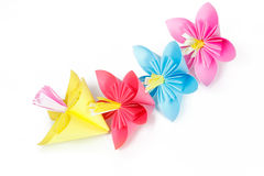 Paper colored flowers Royalty Free Stock Photo