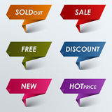 Paper colored pointer sale discount. Vector eps 10 Stock Photo