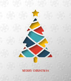 Paper colorful Christmas tree. Vector Illustration stock illustration