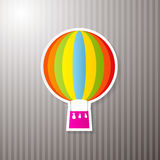 Paper Colorful Hot Air Balloon Royalty Free Stock Photos