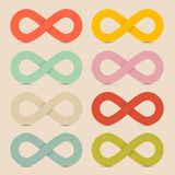 Paper Colorful Infinity Symbols Set Royalty Free Stock Images