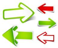 Paper colour arrows. Vector illustration Stock Images