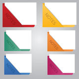 Paper colour notes Royalty Free Stock Photography