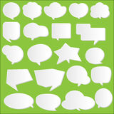 Paper communication bubbles vector Royalty Free Stock Photo