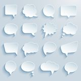 Paper communication bubbles Stock Photography