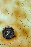 Paper with compass Royalty Free Stock Images