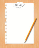 Paper with conceptual to do word. Paper with conceptual to do balloon word on wood background vector illustration