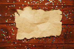 Paper with confetti Stock Photos