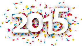 2015 paper confetti word. Stock Photography