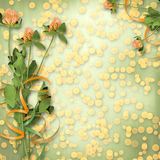 Paper for congratulation with bunch of clover Stock Image