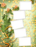 Paper for congratulation with bunch of clover Stock Photography