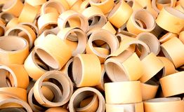 Paper core. A lot of Paper Core/Paper Tube stock image