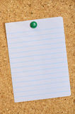Paper on Cork Board Stock Photos