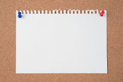 Paper on cork board  for text and background Stock Photos