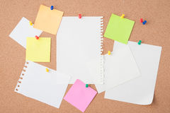 Paper on cork board  for text and background Royalty Free Stock Image