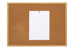 Paper On Cork Notice Board Stock Images