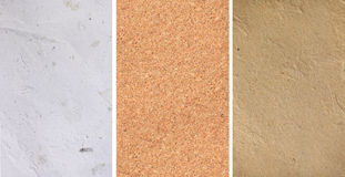 Paper and corkboard textures Stock Photography