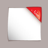 Paper corner cover sheet Royalty Free Stock Images