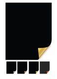 Paper corner curl Stock Images