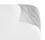 Paper with corner curl Royalty Free Stock Images