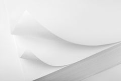 Paper corner curved and curled Royalty Free Stock Photo