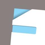 Paper corner slot blue angle Stock Image