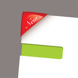 Paper corner slot green Royalty Free Stock Photography
